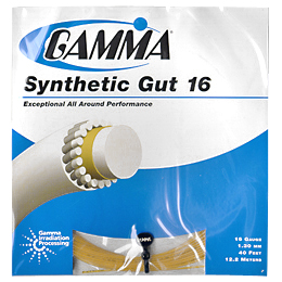 Gamma Synthetic Gut 16: Gamma Tennis String Packages