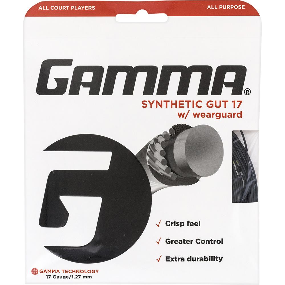 Gamma Synthetic Gut 17 Wearguard: Gamma Tennis String Packages