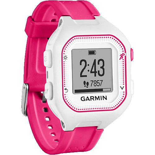 Garmin Forerunner 25 Small White/Pink: Garmin GPS Watches