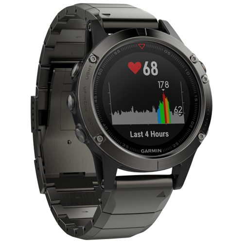 Garmin fenix 5 Sapphire Slate Gray with Metal Band: Garmin Heart Rate Monitors