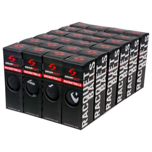 Gearbox Racquetballs 24 box Sleek Black: Gearbox Racquetball Balls