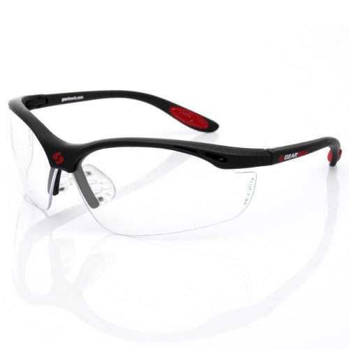 Gearbox Vision Clear Lens Black Frame: Gearbox Eyeguards