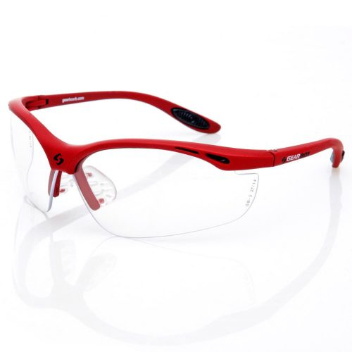 Gearbox Vision Clear Lens Red Frame: Gearbox Eyeguards