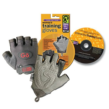 GoFit Pearl-Tac Womens Weightlifting Gloves Gray Large - 1 pr