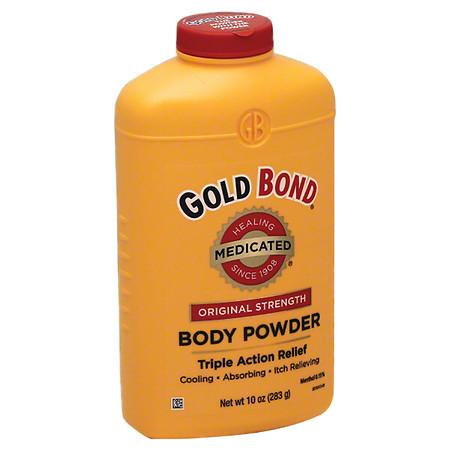 Gold Bond Original Strength Medicated Body Powder Triple Action Relief - 10 oz.