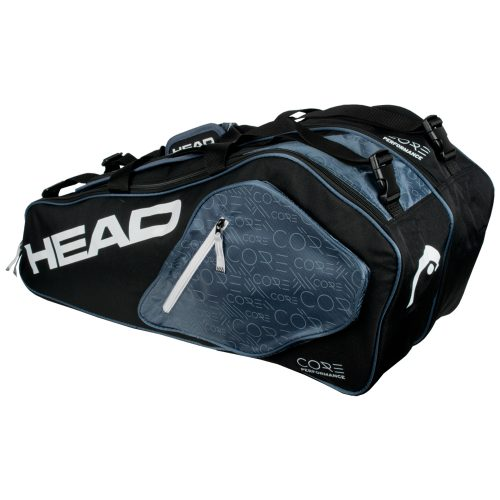 HEAD Core Combi Black/White 6 Racquet Bag 2017: HEAD Tennis Bags