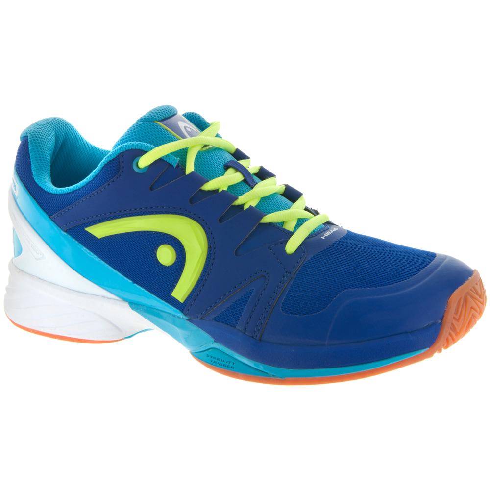 HEAD Nitro Pro Indoor: HEAD Men's Indoor, Squash, Racquetball Shoes Blue/Neon Yellow
