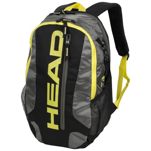 HEAD Racquetball Club Backpack Black/Charcoal/Yellow: HEAD Racquetball Bags