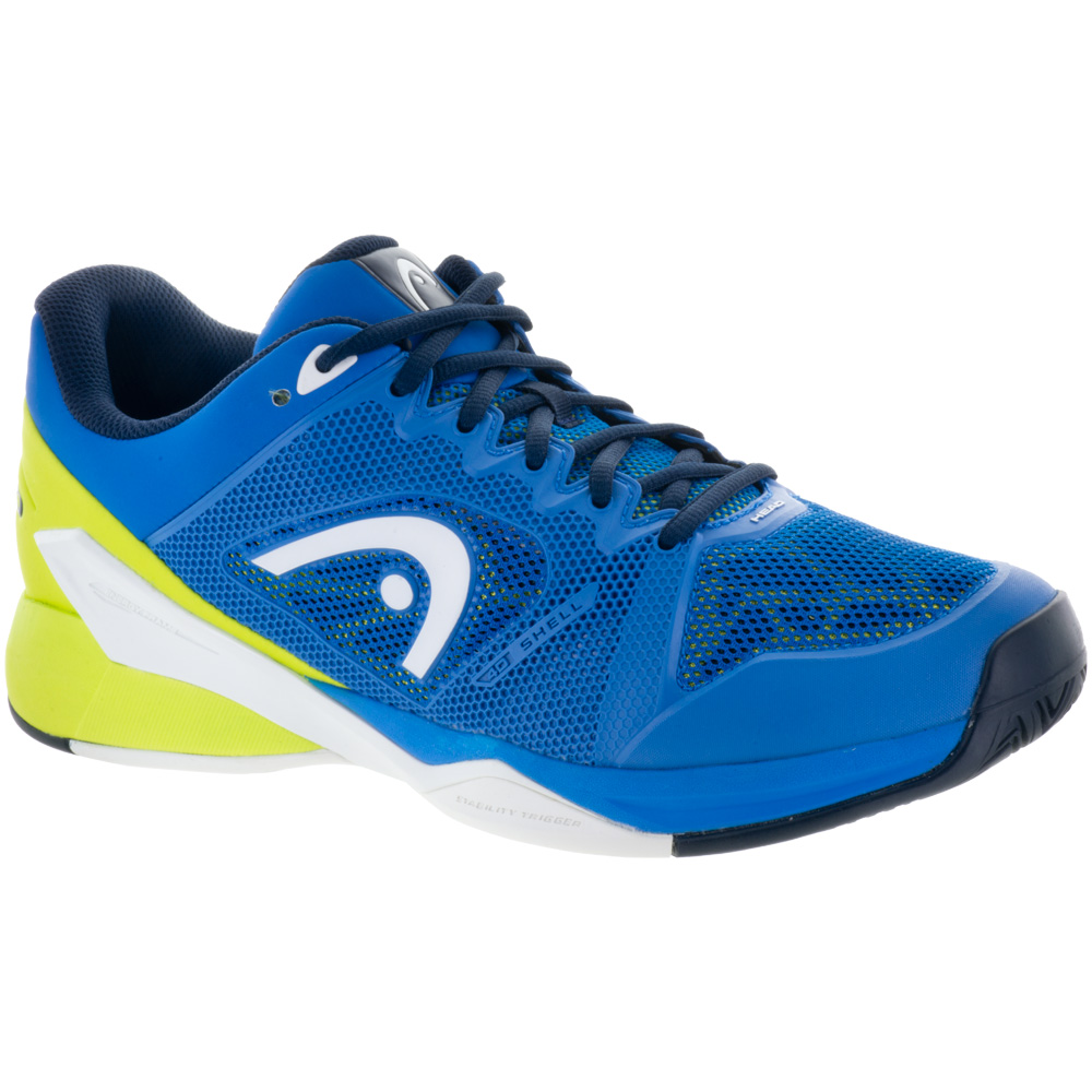 HEAD Revolt Pro 2.5: HEAD Men's Tennis Shoes Limited Edition Blue/Apple Green