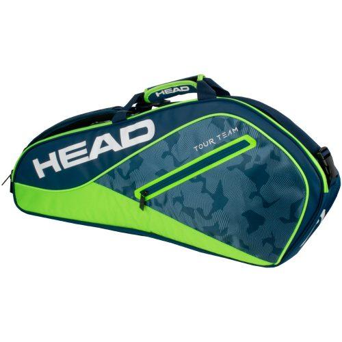 HEAD Tour Team 3 Pro Racquet Bag 2018 Navy/Green: HEAD Tennis Bags