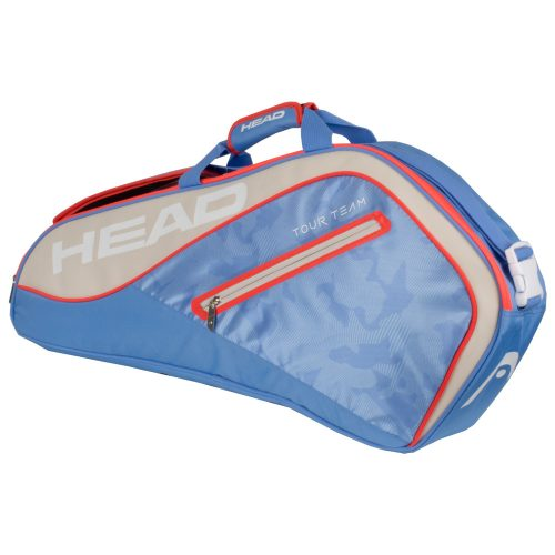 HEAD Tour Team 3 Racquet Pro Bag 2018 Light Blue/Sand: HEAD Tennis Bags