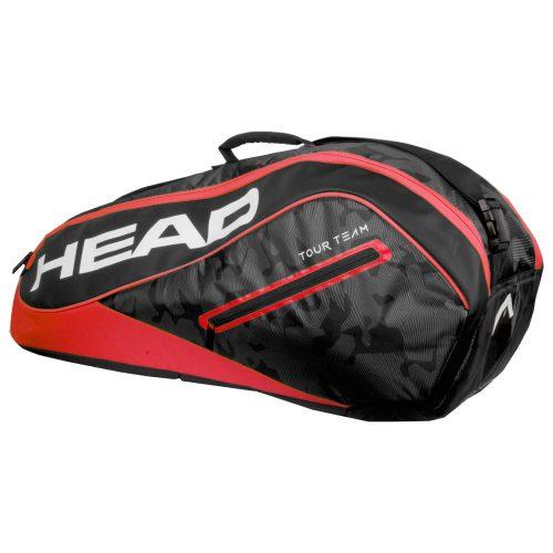 HEAD Tour Team 6 Racquet Combi Bag 2018 Black/Red: HEAD Tennis Bags