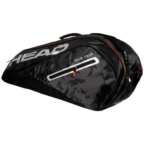 HEAD Tour Team 6 Racquet Combi Bag 2018 Black/Silver: HEAD Tennis Bags