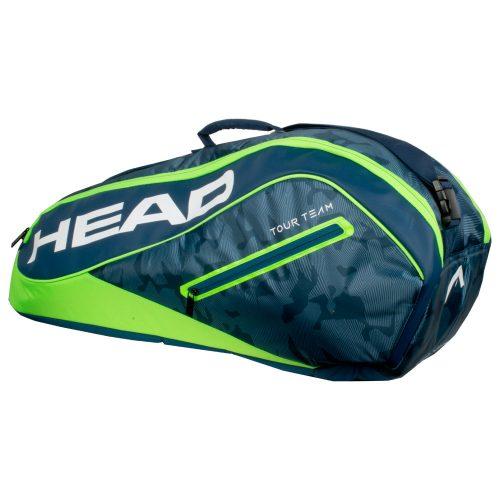HEAD Tour Team 6 Racquet Combi Bag 2018 Navy/Green: HEAD Tennis Bags