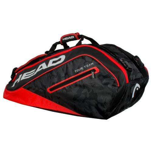 HEAD Tour Team 9 Racquet Supercombi Bag 2018 Black/Red: HEAD Tennis Bags