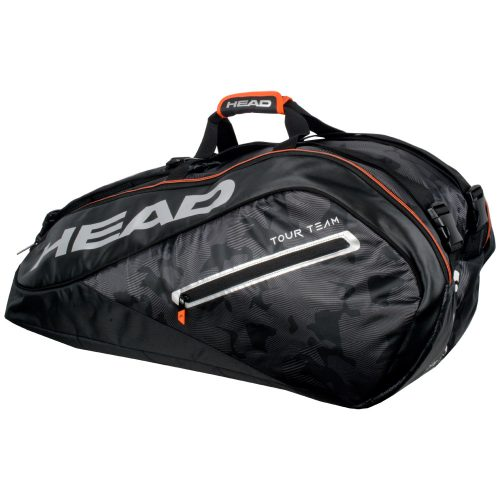 HEAD Tour Team 9 Racquet Supercombi Bag 2018 Black/Silver: HEAD Tennis Bags