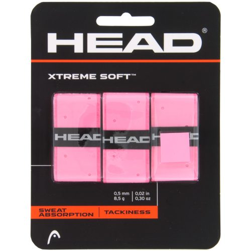 HEAD Xtreme Soft Overgrips Pink 3 Pack: HEAD Tennis Overgrips
