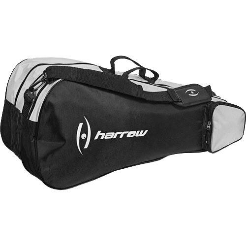 Harrow 3 Racquet Bag Black: Harrow Squash Bags