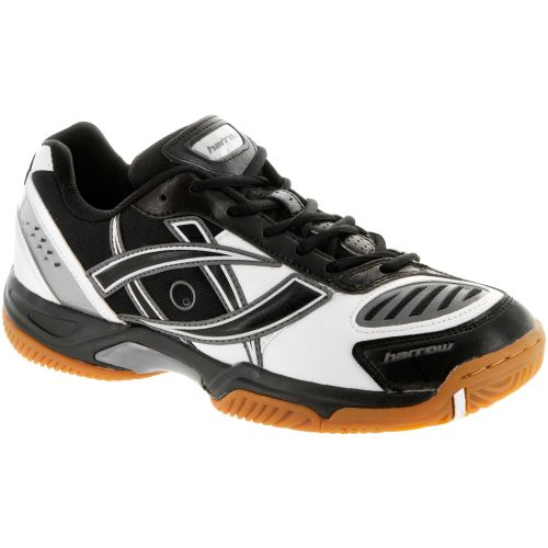 Harrow Volt: Harrow Men's Indoor, Squash, Racquetball Shoes White/Black