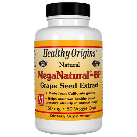 Healthy Origins MegaNatural-BP Grape Seed Extract 150 mg, Capsules - 60 ea