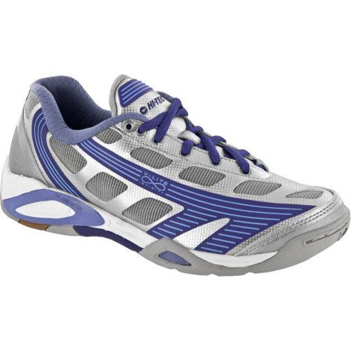 Hi-Tec V-Lite Infinity Flare: Hi-Tec Women's Indoor, Squash, Racquetball Shoes Silver/Lilac/Purple