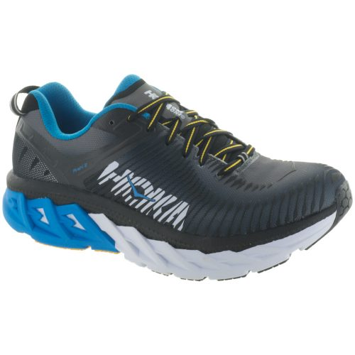 Hoka One One Arahi 2: Hoka One One Men's Running Shoes Black/Charcoal Gray