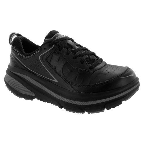 Hoka One One Bondi 4: Hoka One One Men's Walking Shoes Black Leather