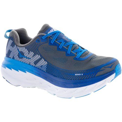 Hoka One One Bondi 5: Hoka One One Men's Running Shoes Charcoal Gray/True Blue