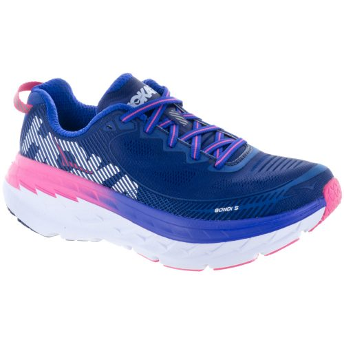 Hoka One One Bondi 5: Hoka One One Women's Running Shoes Blueprint/Surf the Web