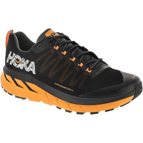 Hoka One One Challenger ATR 4: Hoka One One Men's Running Shoes Black/Kumquat