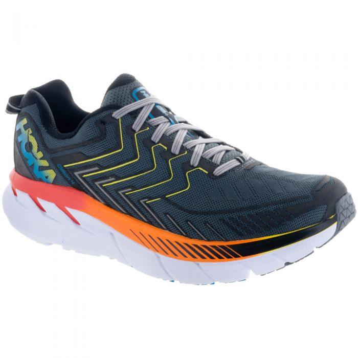 Hoka One One Clifton 4: Hoka One One Men's Running Shoes Castle Rock/Atomic Blue