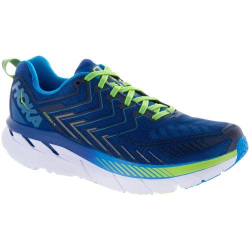 Hoka One One Clifton 4: Hoka One One Men's Running Shoes True Blue/Jasmine Green