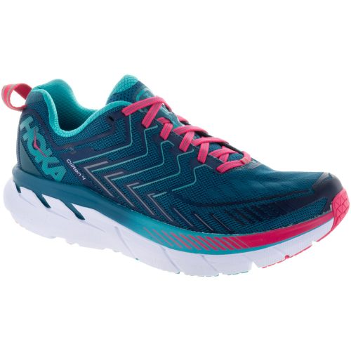 Hoka One One Clifton 4: Hoka One One Women's Running Shoes Blue Coral/Ceramic