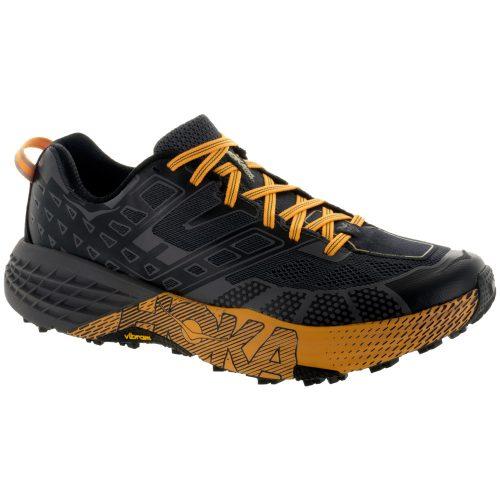Hoka One One Speedgoat 2: Hoka One One Men's Running Shoes Black/Kumquat