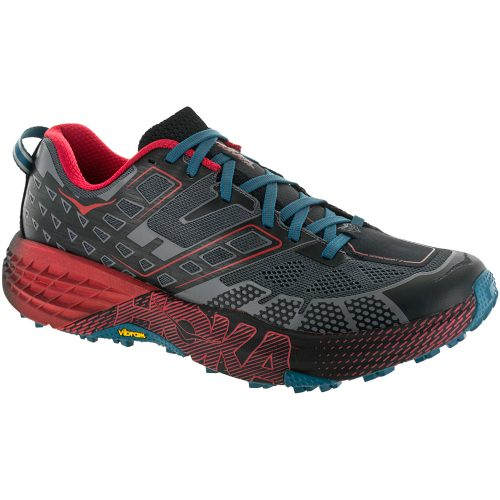 Hoka One One Speedgoat 2: Hoka One One Men's Running Shoes Black/True Red