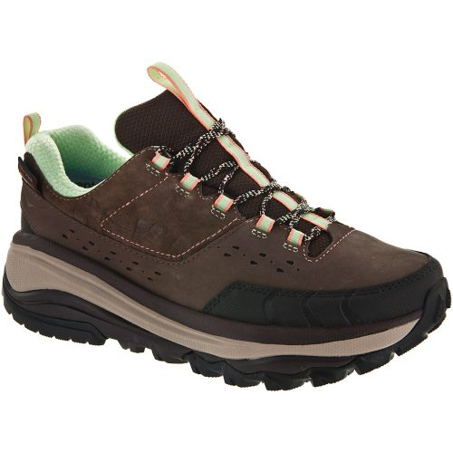 Hoka One One Tor Summit WP: Hoka One One Women's Hiking Shoes Brown/Patina Green