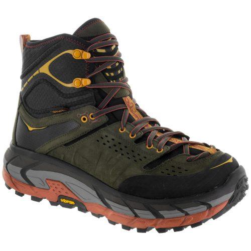 Hoka One One Tor Ultra Hi WP: Hoka One One Men's Hiking Shoes Black Olive/Autumn Gaze