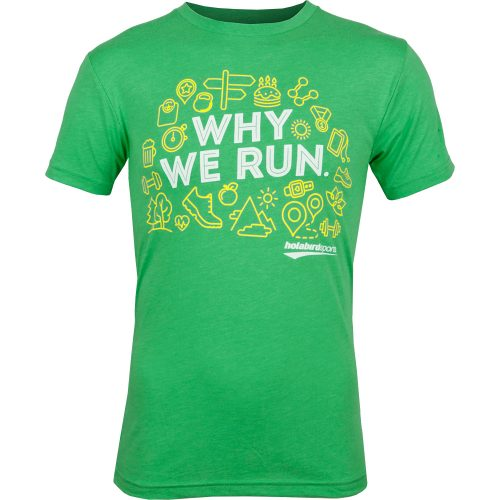 """Holabird Sports """"Why We Run"""" T-Shirt: Holabird Sports Running Apparel"""