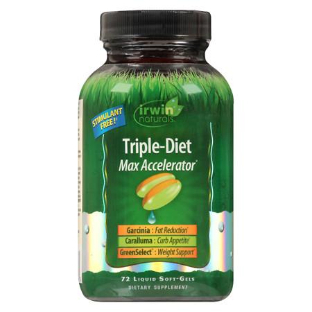 Irwin Naturals Triple Diet Max Accelerator Softgels - 72 ea