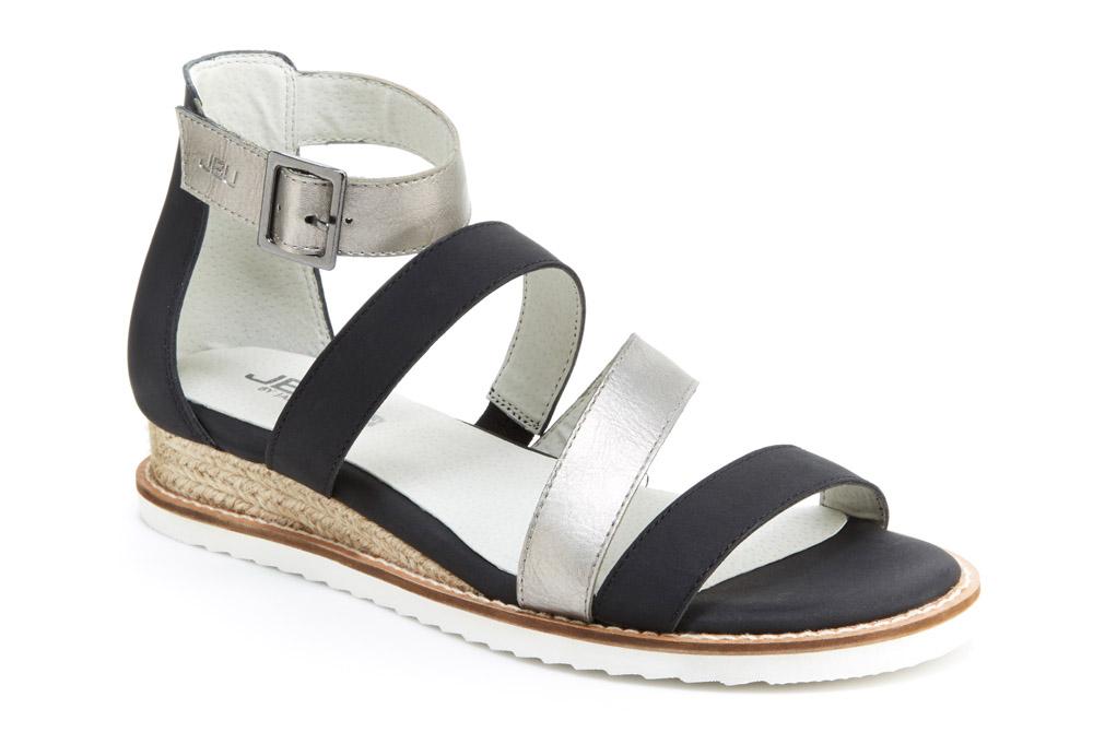 JBU Riviera Sandals - Women's - gunmetal/black, 8.5