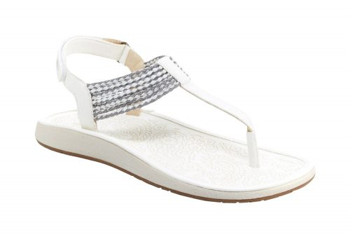 JBU Yasmin Sandals - Women's - white/silver, 6.5