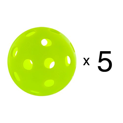 Jugs Indoor Pickleballs 5 Count: Jugs Sports Pickleball Balls