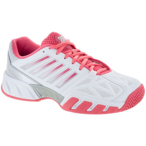 K-Swiss Bigshot Light 3 Junior White/Calypso Coral/Silver: K-Swiss Junior Tennis Shoes