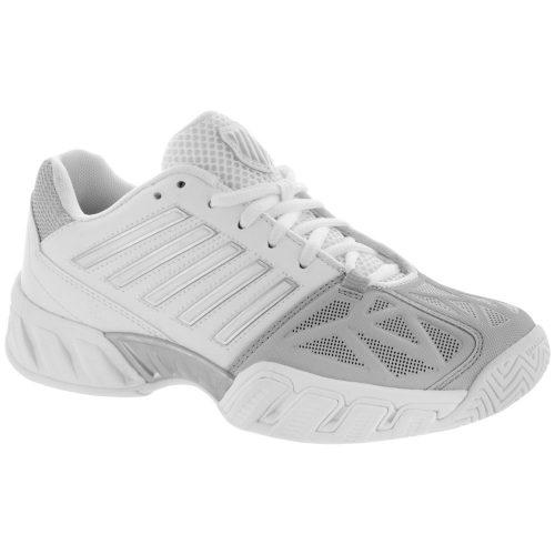 K-Swiss Bigshot Light 3 Junior White/Silver: K-Swiss Junior Tennis Shoes