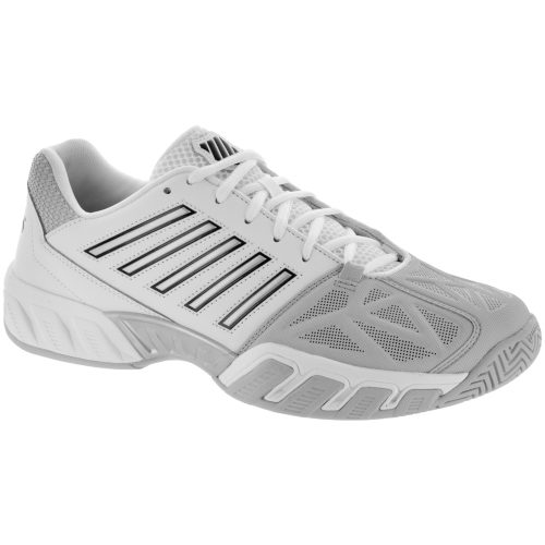 K-Swiss Bigshot Light 3: K-Swiss Men's Tennis Shoes White/Silver