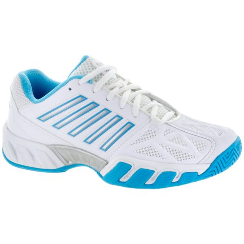 K-Swiss Bigshot Light 3: K-Swiss Women's Tennis Shoes White/Aquarius