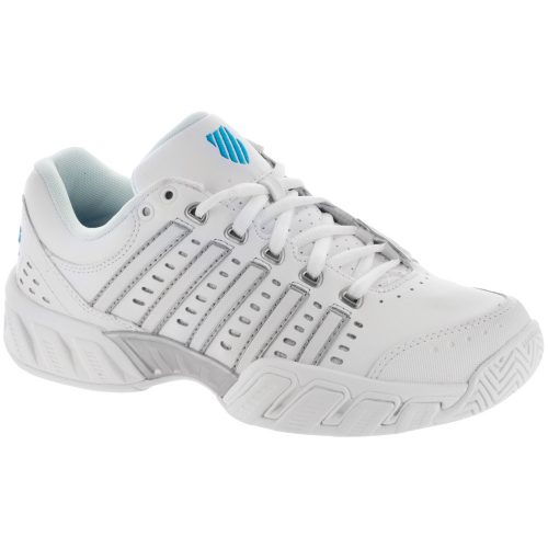 K-Swiss Bigshot Light LTR: K-Swiss Women's Tennis Shoes White/Hawaiian Ocean