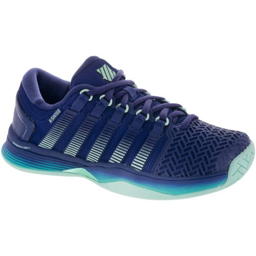 K-Swiss Hypercourt 2.0: K-Swiss Women's Tennis Shoes Blue Ribbon/Electric Green/Brook Green
