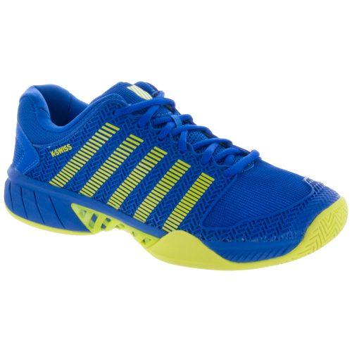 K-Swiss Hypercourt Express Junior Strong Blue/Neon Citron: K-Swiss Junior Tennis Shoes