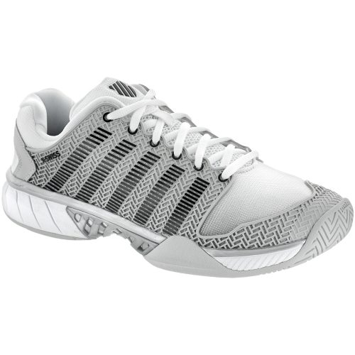 K-Swiss Hypercourt Express: K-Swiss Men's Tennis Shoes Glacier Gray/White/Silver